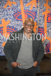 Victor Ekpuk, By The People, Arts Festival, Smithsonian Arts and Industries Building, June 14th, 2019.  Photo by Ben Droz.