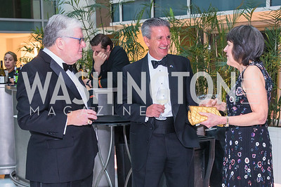 John Sturm, Kevin Virostek, Kathleen McGuan. Photo by Alfredo Flores. Catholic Charities Gala 2019. Marriott Marquis. April 5, 2019