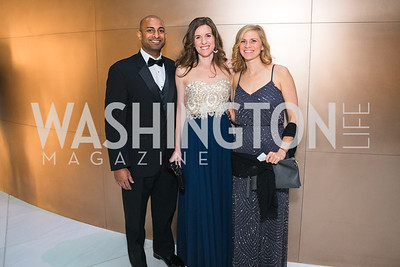 Rijo Philip, Megan Philip, Mary Forr,  Photo by Alfredo Flores. Catholic Charities Gala 2019. Marriott Marquis. April 5, 2019