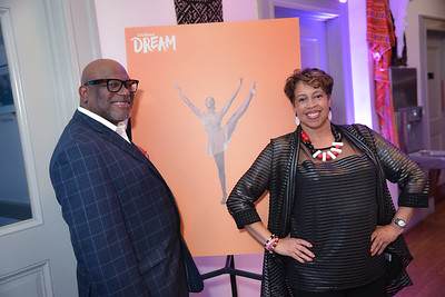 Deacon Bobby White, Roslyn Brown, CityDance, DREAM Gala, at the Thurgood Marshall Center, May 11, 2019, photo by Ben Droz.