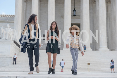 Xiuhtezcatl Martinez, Xije Bastida, Levi Draheim, Activists and Members of Congress gather at the Supreme Court, with Plaintiffs from Juliana v. United States, as part of the Global Climate Strike.  September 18, 2019.  Photo by Ben Droz