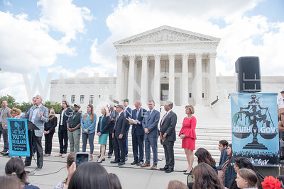 Activists and Members of Congress gather at the Supreme Court, with Plaintiffs from Juliana v. United States, as part of the Global Climate Strike.  September 18, 2019.  Photo by Ben Droz
