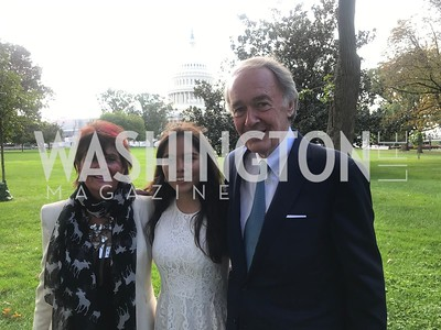 Beverly Camhe, Xije Bastida, Senator Ed Markey, Activist and Members of Congress gather at the Supreme Court, with Plaintiffs from Juliana v. United States, as part of the Global Climate Strike.  September 18, 2019.  Photo by Ben Droz