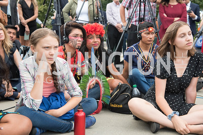 Greta Thunberg, Activists and Members of Congress gather at the Supreme Court, with Plaintiffs from Juliana v. United States, as part of the Global Climate Strike.  September 18, 2019.  Photo by Ben Droz