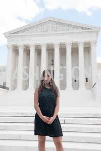 Xije Bastida, Activists and Members of Congress gather at the Supreme Court, with Plaintiffs from Juliana v. United States, as part of the Global Climate Strike.  September 18, 2019.  Photo by Ben Droz
