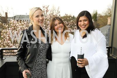 Rosie Meile, Ana Caceres, Gabriela Cruz. Photo by Tony Powell. Compass DMV Launch Party. April 4, 2019