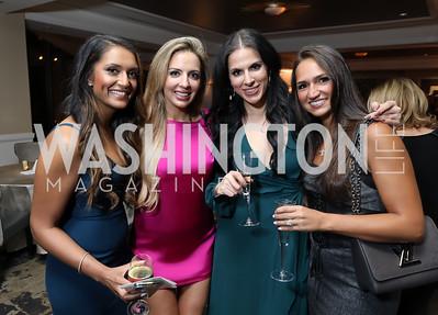 Nisha Patel, Larrissa Economides, Lala Economides, Katerina Zissios. Photo by Tony Powell. DC Plastic Surgery Boutique Grand Opening. Four Seasons. January 24, 2019