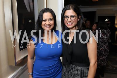 Nadya Abhyankar, Aliya Jiwani. Photo by Tony Powell. DC Plastic Surgery Boutique Grand Opening. Four Seasons. January 24, 2019