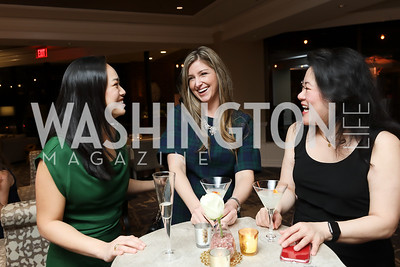 Marilyn Nguyen, Laura Orme, Kathy Huang. Photo by Tony Powell. DC Plastic Surgery Boutique Grand Opening. Four Seasons. January 24, 2019