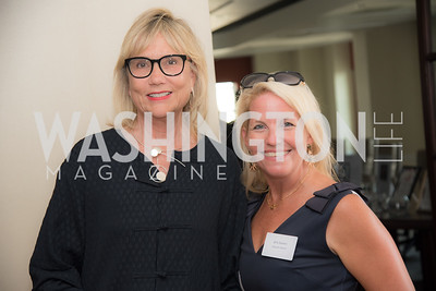 Pamela Parsons, Erin Andrews, FAIR Girls, Rooftop Reception, The Willard, June 6, 2019, Photo by Ben Droz.