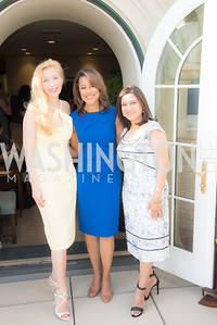 Alexandra Sényi, Lesli Foster, Christine Terrell, FAIR Girls, Rooftop Reception, The Willard, June 6, 2019, Photo by Ben Droz.