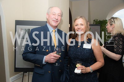 David Finkelstein	, Cheryl  Battan, FAIR Girls, Rooftop Reception, The Willard, June 6, 2019, Photo by Ben Droz.