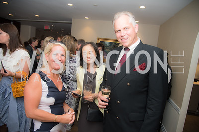 Erin Andrews, Hwa Yu, Robert Milbaugh, FAIR Girls, Rooftop Reception, The Willard, June 6, 2019, Photo by Ben Droz.