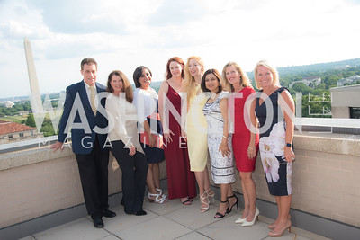 Bruce Fries, Anne Fabry, Jeniffer de Jesus-Roberts, Kami Quinn, Alexandra Sényi, Christine Terrell, Patrice Sullivan, Erin Andrews, FAIR Girls, Rooftop Reception, The Willard, June 6, 2019, Photo by Ben Droz.