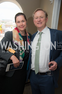 Martina Vandenberg, Jonathan Terrell, FAIR Girls, Rooftop Reception, The Willard, June 6, 2019, Photo by Ben Droz.