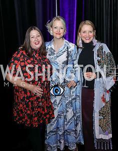 """Victoria Reis, Dana Rooney, Mel Burnett. Photo by Tony Powell. 2019 """"Art & Seoul."""" Freer Sackler. November 22, 2019"""