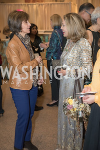 Ambassador Dina Kawar, Jillian Sackler, Freer Sackler, Gallery of Art, Empresses of China, March 27, 2019. Photo by Ben Droz.