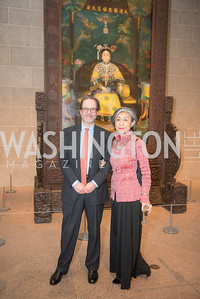 Jeffrey Cunard, Mariko Ikehara, Freer Sackler, Gallery of Art, Empresses of China, March 27, 2019. Photo by Ben Droz.
