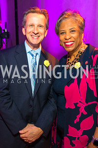 John Hamilton, Congresswoman Brenda Lawrence. Photo by Alfredo Flores. Rightfully Hers American Women and the Vote opening reception. National Archives. May 8, 2019