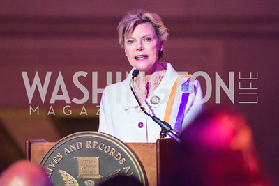 Cokie Roberts,. Photo by Alfredo Flores. Rightfully Hers American Women and the Vote opening reception. National Archives. May 8, 2019