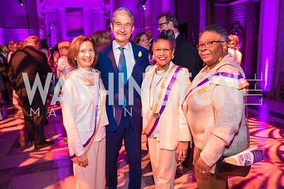Kathy Weinman, Cameron Kerry, A'Lelia Bundles, Francille Rusan Wilson . Photo by Alfredo Flores. Rightfully Hers American Women and the Vote opening reception. National Archives. May 8, 2019