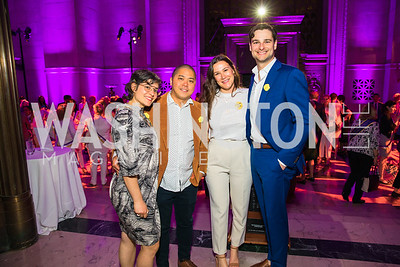 Christina Ferwerda, Teddy Vuong, Maggy Graven, Garrett Graven. Photo by Alfredo Flores. Rightfully Hers American Women and the Vote opening reception. National Archives. May 8, 2019