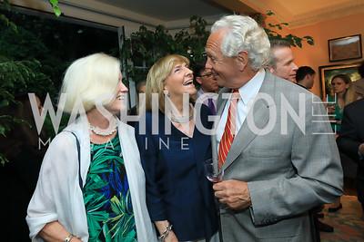 Caroline Croft, Wendy Benchley, John Jeppson. Photo by Tony Powell. Reception for Bill Weld. Tobin Residence. June 18, 2019
