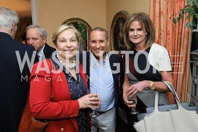 Francesca Craig, Daren Thomas, Gail MacKinnon. Photo by Tony Powell. Reception for Bill Weld. Tobin Residence. June 18, 2019