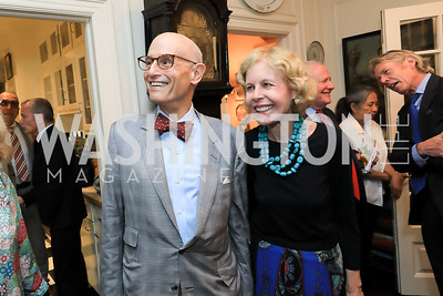 Bill and Ann Nitze. Photo by Tony Powell. Reception for Bill Weld. Tobin Residence. June 18, 2019