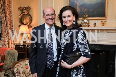 Gordon Dale, Alexandra de Borchgrave. Photo by Tony Powell. Reception for Bill Weld. Tobin Residence. June 18, 2019