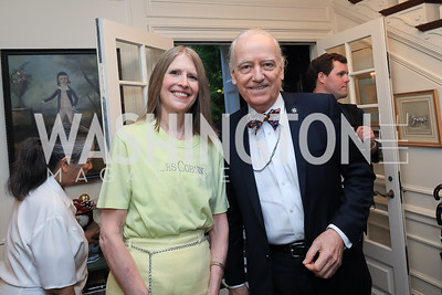 Shelley and Bruce Ross-Larson. Photo by Tony Powell. Reception for Bill Weld. Tobin Residence. June 18, 2019
