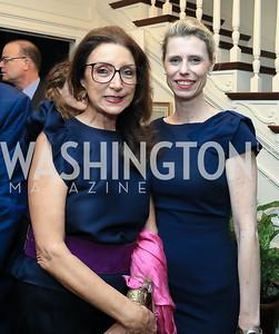 Aniko Gaal Schott, Lotti Letanoczky. Photo by Tony Powell. Reception for Bill Weld. Tobin Residence. June 18, 2019