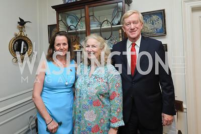 Leslie Marshall, Joan Tobin, Gov. Bill Weld. Photo by Tony Powell. Reception for Bill Weld. Tobin Residence. June 18, 2019