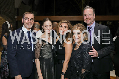 Michael Olding, Julie Kent, Yasmine Pahlavi, Annie Totah, Chris Morrison. Photo by Tony Powell. Julie Kent's 50th Birthday. Embassy of New Zealand. September 28, 2019