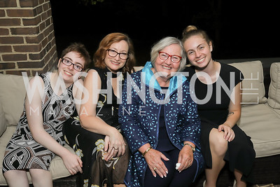 Mary Cassell, Susan Cassell, Jennifer Cox, Catherine Cassell. Photo by Tony Powell. Julie Kent's 50th Birthday. Embassy of New Zealand. September 28, 2019