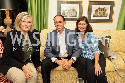 Lathey O'Hearn, Rod Rosenstein, Lisa Barsoomian. Photo by Yasmin Holman. Kim Wehle Book Event. Chevy Chase. 09.14.19