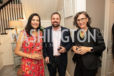 Angelina Cely, Tom LoBianco, Penny Ross. Photo by Yasmin Holman. Kim Wehle Book Event. Chevy Chase. 09.14.19