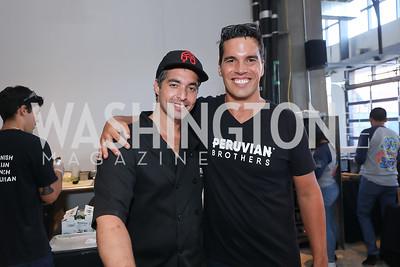 Mario and Giuseppe Lanzone. Photo by Tony Powell. La Cosecha Grand Opening. September 7, 2019