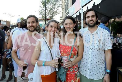 Santiago Tizon, Mariana Becerra, Chloe Hans Barrientos, Francisco Gomez. Photo by Tony Powell. La Cosecha Grand Opening. September 7, 2019