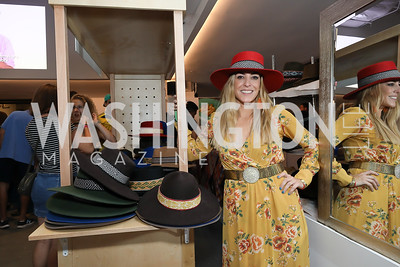 Andeana Hats' Laura Grier. Photo by Tony Powell. La Cosecha Grand Opening. September 7, 2019