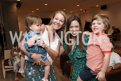 Chloe Ein, Liz Gibbs, Sally and Charlie Ein. Photo by Tony Powell. La Cosecha Grand Opening. September 7, 2019