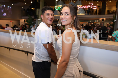 Andres Virgin, Kelly Ferguson. Photo by Tony Powell. La Cosecha Grand Opening. September 7, 2019