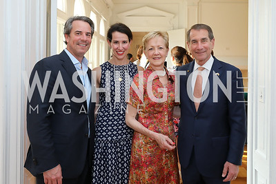 "Stuart Holliday, Natalie Jones, Ann Stock, Former US Amb. to Spain Alan Solomont. Photo by Tony Powell. ""Lost & Found in Spain"" Book Party. May 28, 2019"