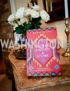 "Photo by Tony Powell. Marie Arana ""Silver, Sword and Stone"" Book Party. Roosevelt Residence. September 18, 2019"
