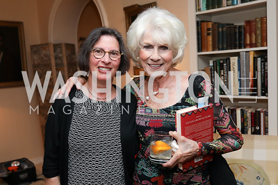 "Emily VanAgtmael, Diane Rehm. Photo by Tony Powell. Marie Arana ""Silver, Sword and Stone"" Book Party. Roosevelt Residence. September 18, 2019"