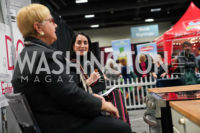 Lidia Bastianich, Catherine Trifiletti. Photo by Tony Powell. MetroCooking DC. Convention Center. November 16, 2019