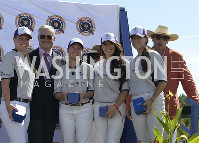 TTR Sotheby's Team Danielle Quinn, Mark Lowham, Terri Campbell, Cristina Parr, Isabella Wolf and John Gobin,  NSLM 2019 Polo Classic Great Meadow Sep 15 2019 Photo by Nancy Milburn Kleck