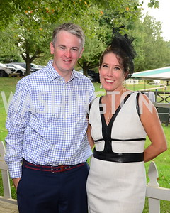 Emmett Gallagher and Adrienne Stone,  NVTRP Ride to Thrive Polo Classic, Great Meadow, Sep 28, 2019, photo by Nancy Milburn Kleck