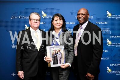 Franklin Salisbury Jr. Dr. Sujuan Ba Charlie Weatherspoon Photo by Naku Mayo. National Cancer Research Center Salisbury Awards 2019 November 14