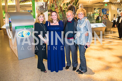 Lynn Shapiro, Nancy Grauman, Ray Damazo,  Gail Damazo. Photo by Alfredo Flores. National Museum of Natural History David H. Koch Hall of Fossils - Deep Time Members Preview Gala. Smithsonian National Museum of Natural History. June 6, 2019